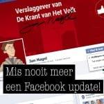 Mis nooit meer een update via Facebook!